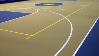 کفپوش سالن بسکتبال