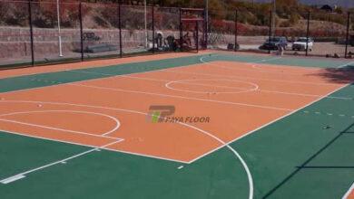 فروش و نصب کفپوش زمین والیبال فضای باز