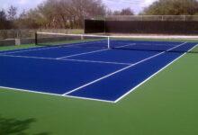 کفپوش فضای باز تنیس